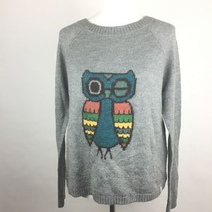 Woolrich NWT Gray Owl Graphic Print Sweater